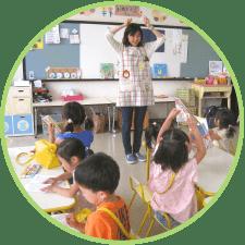 写真:幼稚園の一日